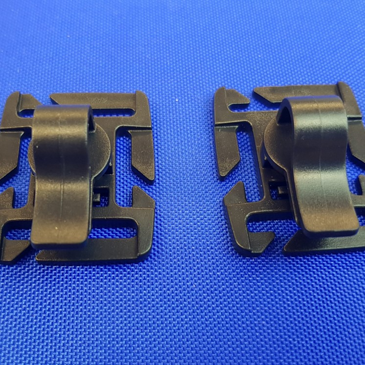 webbing mounted tubing clips